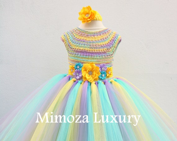 Rainbow Birthday Tutu Dress, 1st birthday dress, infant baby dress, girl infant dress, toddler party dress, birthday girl dress, flower girl