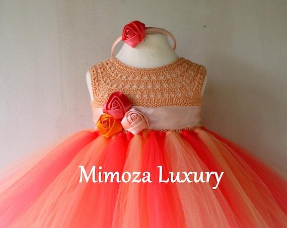 Tropical baby girls dress