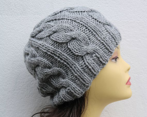Light Grey women's Beanie hat, Hand Knitted Hat in light grey beanie hat, knitted men's, women's beanie hat, winter hat, ski hat, gray hat