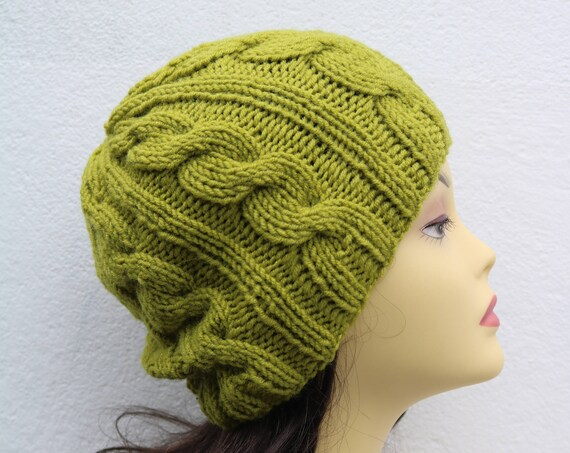 Pistachio Green women's Beanie hat, Hand Knitted Hat in green beanie hat, knitted men's, women's beanie hat, winter beanie, green ski hat