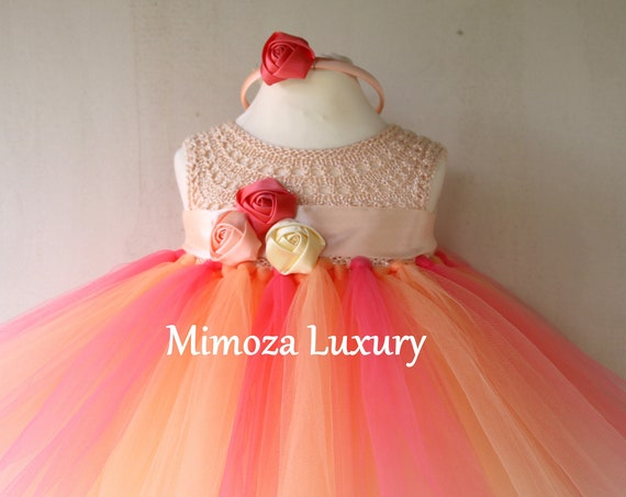 Peach Birthday girl dress