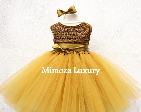 Rustic Gold Tutu dress