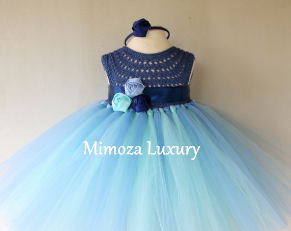 Blue Birthday girl dress