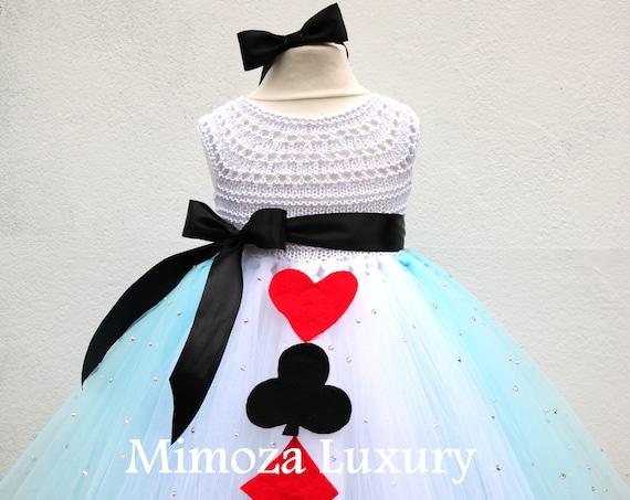 Alice in Wonderland Princess tutu dress, Alice costume, Alice outfit, Alice in wonderland dress, Fairy tale princess tutu dress, tea party