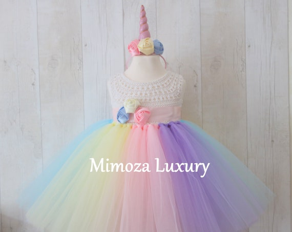 Unicorn 1st birthday baby dress, unicorn infant outfit