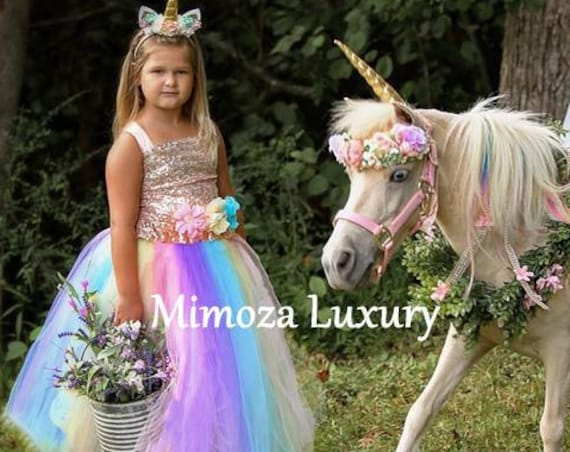 Luxury Unicorn Dress, unicorn tutu dress, rainbow unicorn dress