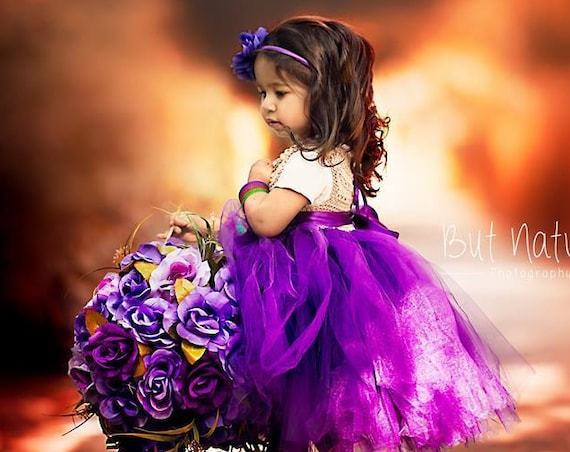 Country Flower girl dress