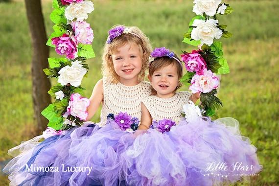 Beach Lavender Flower girl dresses