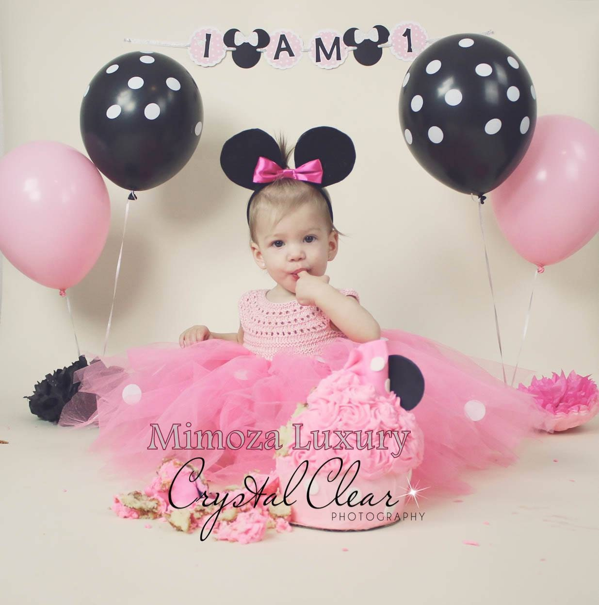 Minnie Mouse Birthday Dress Pink Minnie Mouse Outfit 1st Birthday Tutu Dress Minnie Mouse Themed Party Minnie Mouse Ears Minnie Dress
