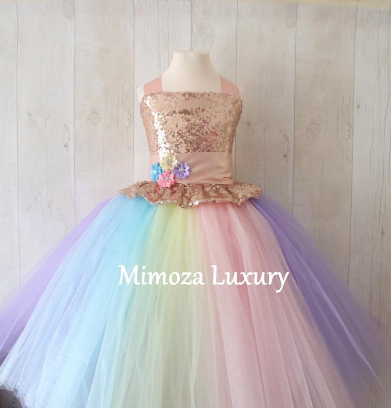 53f4d17ae Luxury Unicorn Birthday Dress unicorn tutu dress rainbow | Etsy