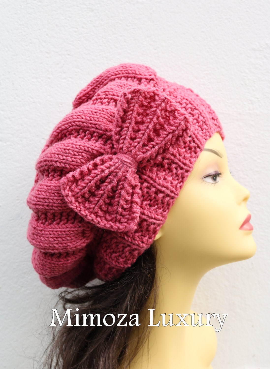 40766d47940 ... slouchy knit women s hat with bow