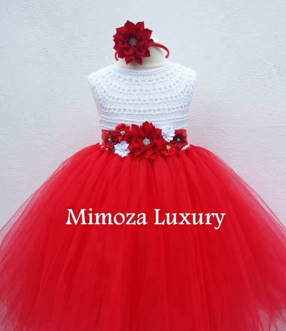 Christmas dress outfit, Santa dress, red Christmas  princess tutu costume dress white red birthday tutu dress