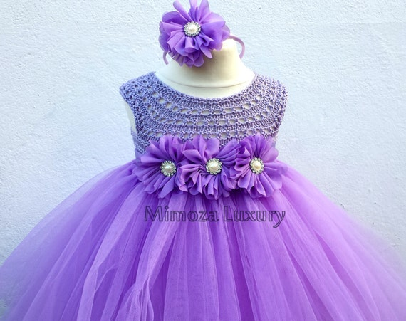Lavender flower girl dress