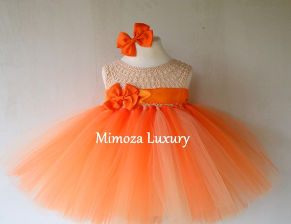Peach/Orange Girls Dress