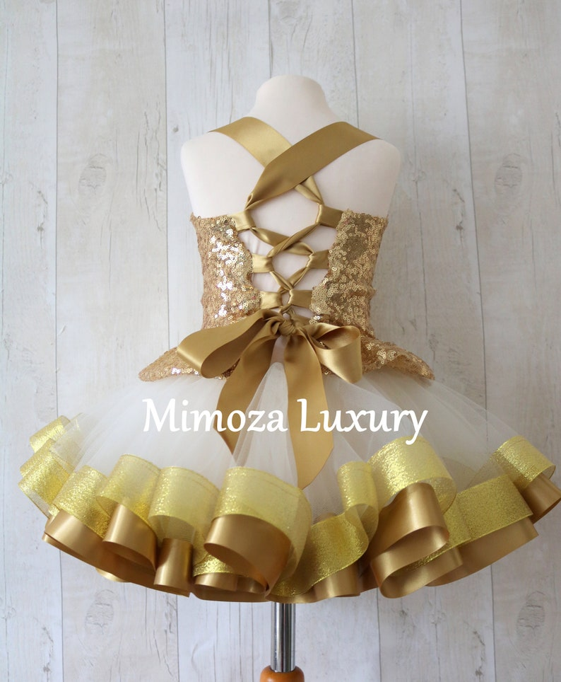 gold baby girl tutu princess dress Luxury Gold Birthday Outfit gold girls birthday dress infant girl 1st birthday gold tutu dress outfit