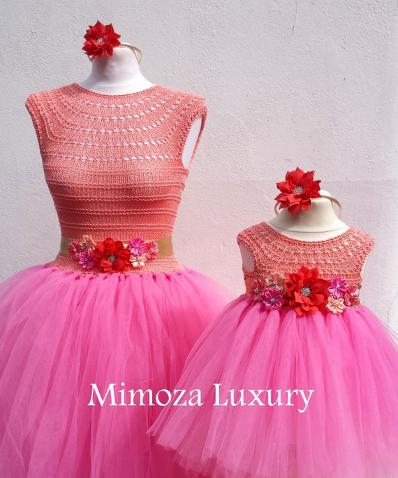 Made to measure Mother and Daughter matching dresses, Adult tutu dress