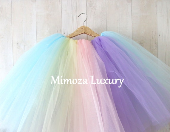 Unicorn Birthday Tulle Skirt, tulle skirt, princess tulle skirt, flower girl tulle skirt, wedding tulle skirt