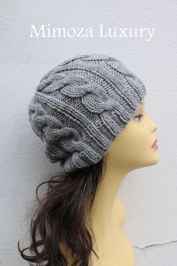 Light Grey women's Beanie hat, Hand Knitted Hat in light grey beanie hat, knitted men's, women's beanie hat, winter hat, ski hat, gray hat