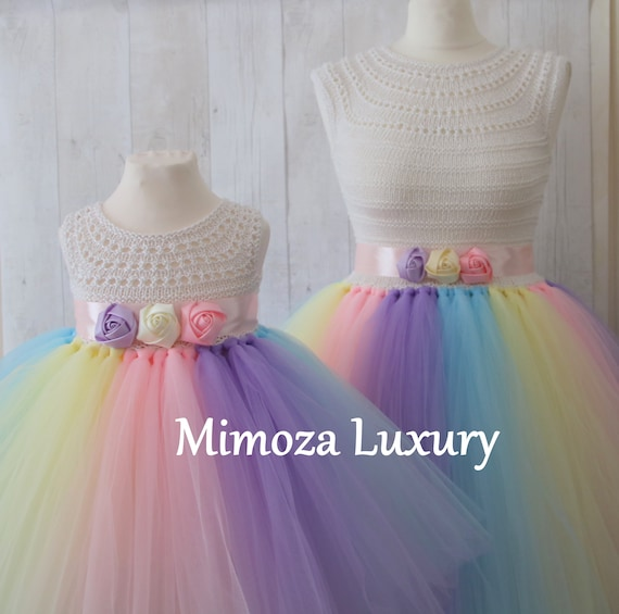 Mother Daughter Matching unicorn dresses