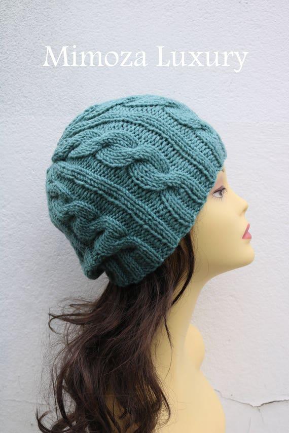 Pastel Green women Beanie hat, Hand Knitted Hat in pastel green beanie hat, knitted men's, women's beanie hat, winter beanie, green ski hat