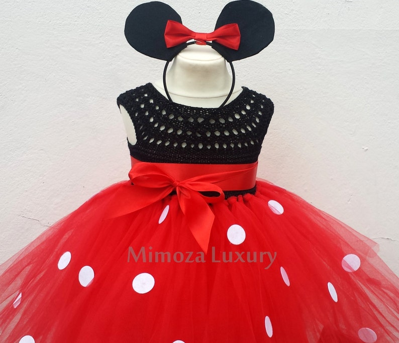 68a5b4ddf40 Mickey mouse birthday dress red mickey mouse outfit 1st