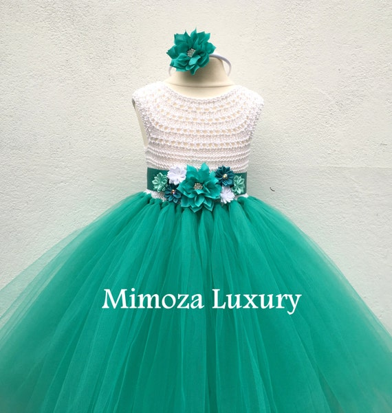 Tropical Flower girl dress