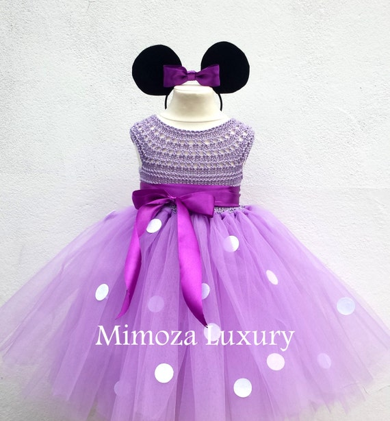 Lilac Minnie mouse dress