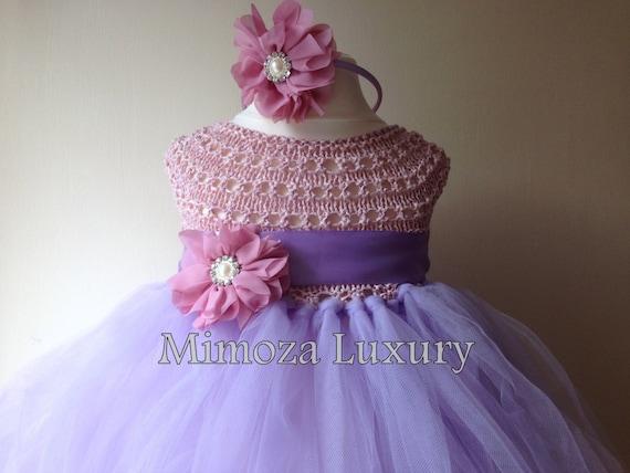 Rapunzel princess tutu dress, crochet tutu dress, bridesmaid dress, princess dress, silk crochet top tulle dress, hand knit silk tutu dress