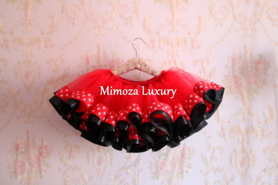 Minnie Mouse tutu red and black tutu skirt