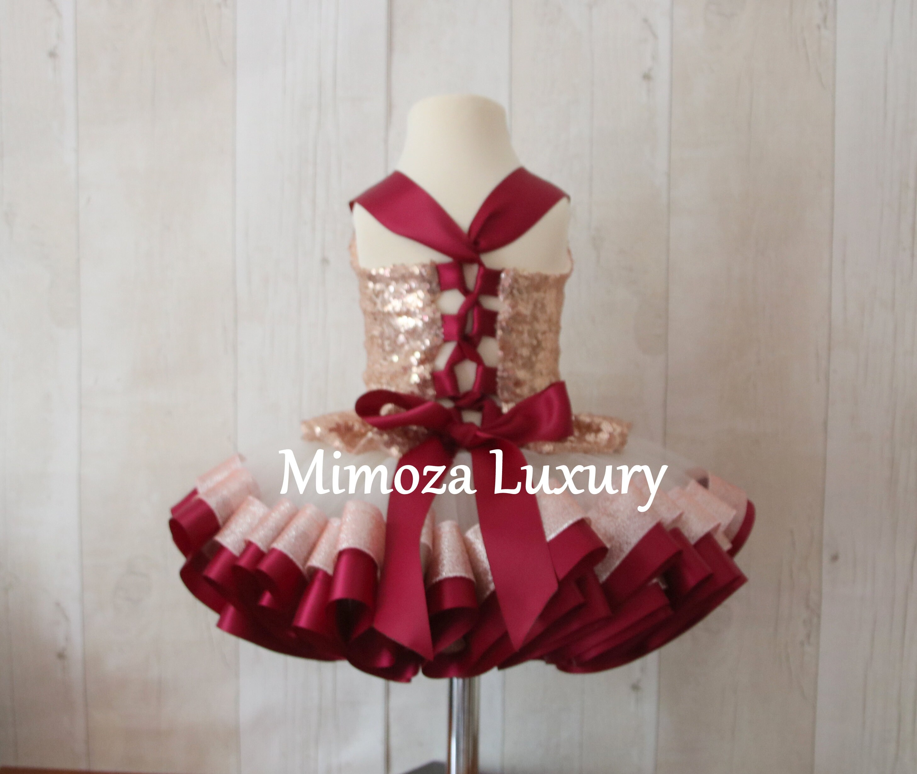 bb0d91fd4b68f Luxury Burgundy   Rose Gold Sequin Birthday Outfit