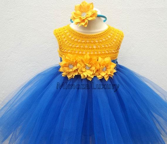 Minions tutu dress, minions dress outfit , minions princess dress, crochet top tulle dress minions yellow blue tutu dress minions birthday