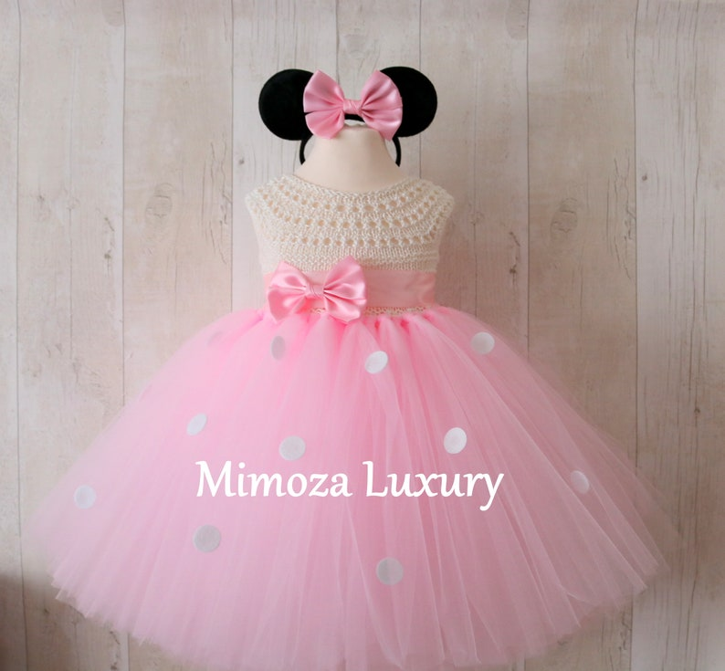 7e19f310d Minnie mouse birthday dress pink minnie mouse outfit 1st