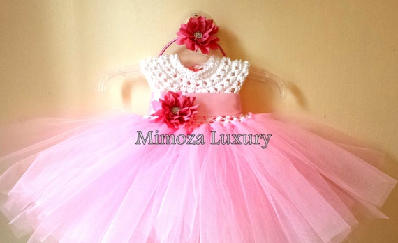 Pink baby birthday dress