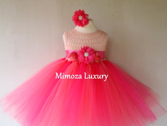 Coral Girls tutu dress