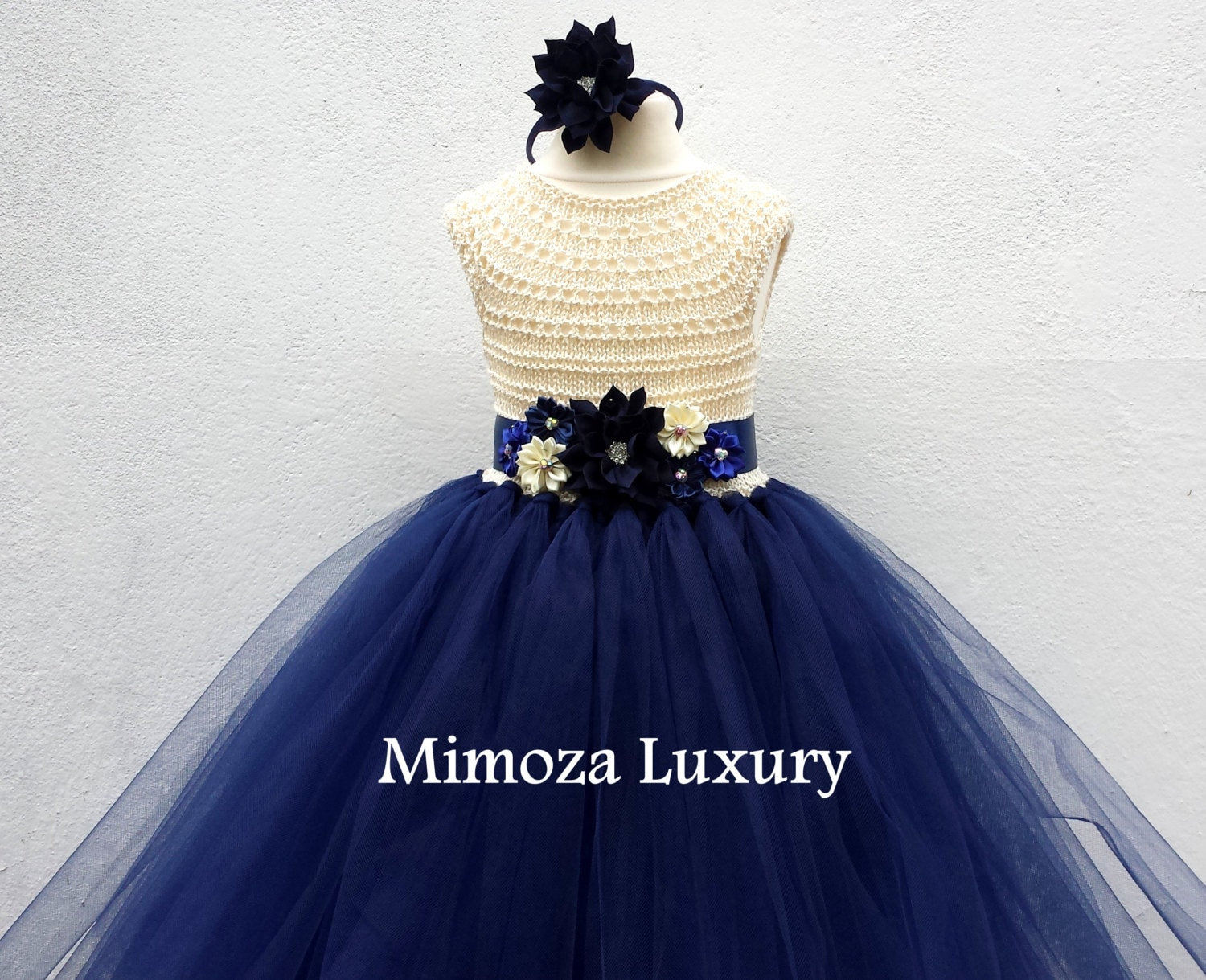 Ivory navy flower girl dress ivory and navy tutu dress navy cream ivory navy flower girl dress ivory and navy tutu dress navy cream bridesmaid dress cream navy blue princess dress ivory navy wedding izmirmasajfo
