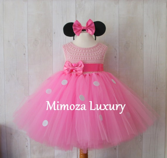 Minnie mouse dress, 1st birthday dress, girl infant dress, baby girl minnie dress, minnie party dress, girl birthday dress, pageant dress