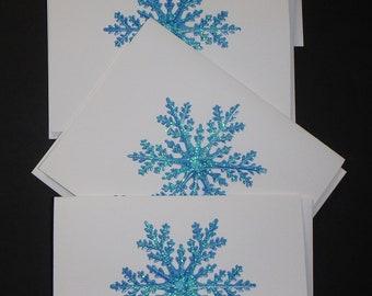 Snowflake Holiday Thank You Cards, Christmas Thank You Cards, Thank You Cards