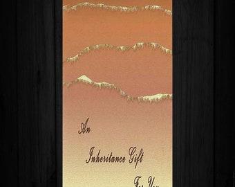 Inheritance Gift Card, Inheritance Gift Envelope,