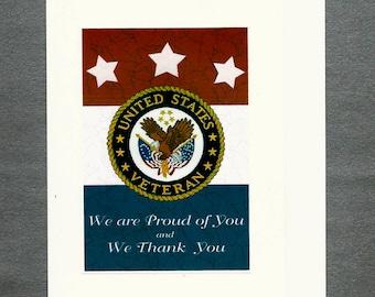 Thank a Veteran ,Thank Firemen, Thank Police. Retirement Card for Veteran or Policeman or Fireman