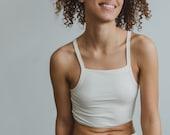 Hemp Blend Bra, Natural White Underwear, Womens lingerie Set, Soft Bralette
