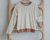 Organic Thermal Raglan, Long Sleeve Pullover, Colorblock Cuff Tee, Genderless Clothing, Men & Womens Sweatshirt