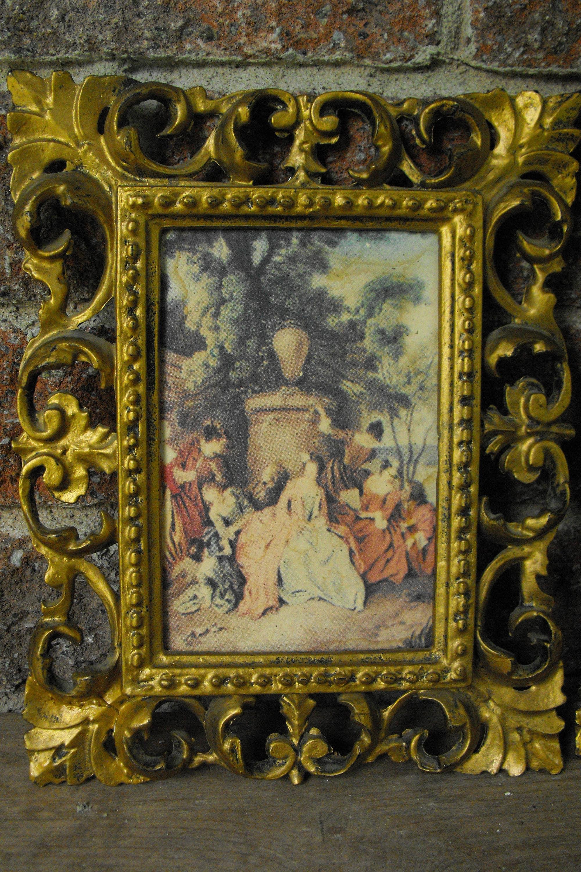 Antiguos marcos de cuadros, marcos ornamentales, marcos Vintage, oro ...