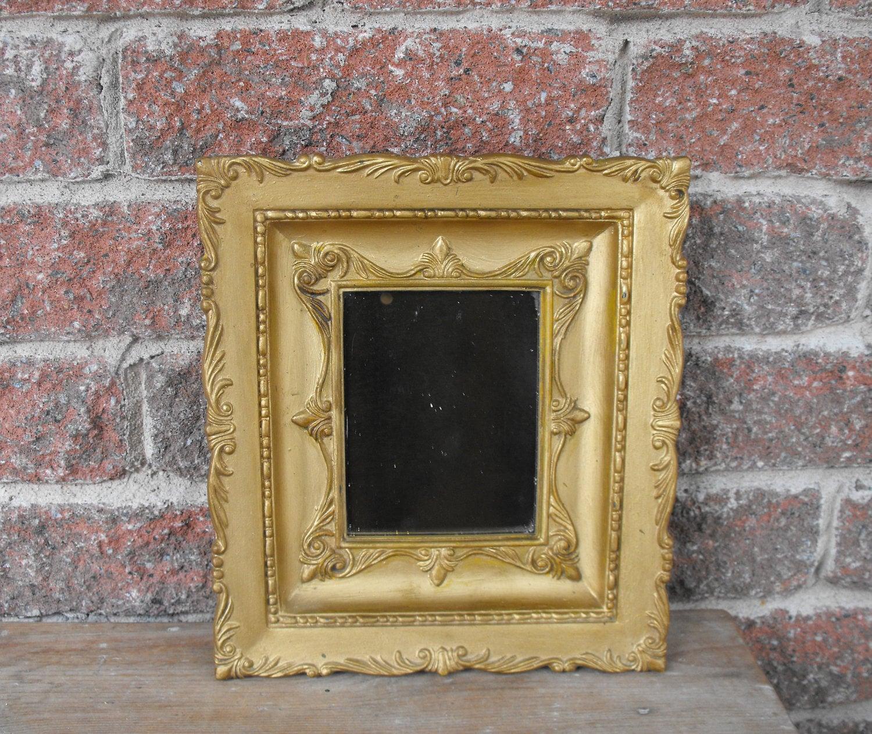 Marco adornado, espejo oro, marco, marco dorado del Faux, oro, marco ...