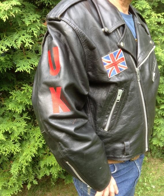 Jacket Jacket Leather Jacket Union Vintage Wear Jack Motorcycle British Jacket Leather Motorcycle Biker Jacket Vintage Motorcycle PnZUq