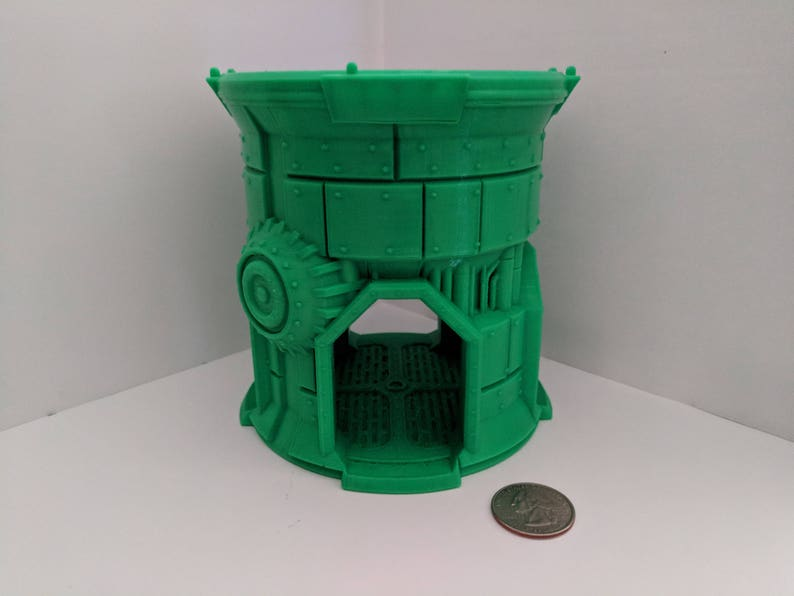 Warlayer pipe tower, style A, 4-way, Qty 1 - 28 mm war gaming terrain  (Warhammer, Necromunda, Warmachine)