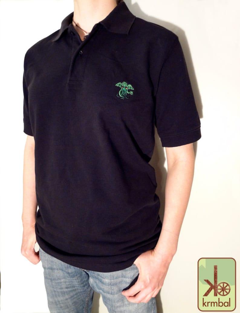 Cthulhu Eco Friendly Organic Cotton Polo Shirt H P Etsy