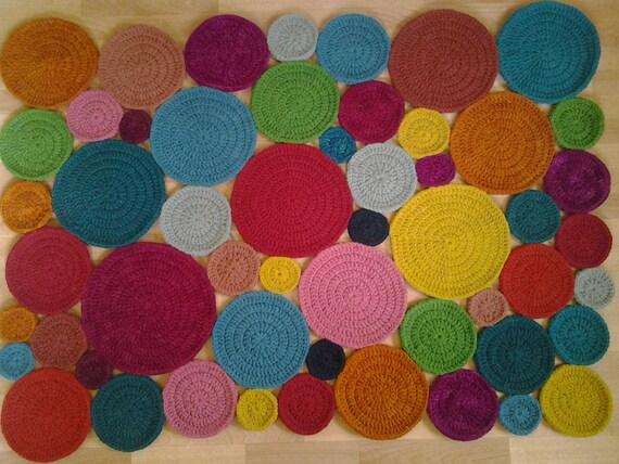 Crochet square tappeto rettangolare tappeto 160 cm 125 etsy