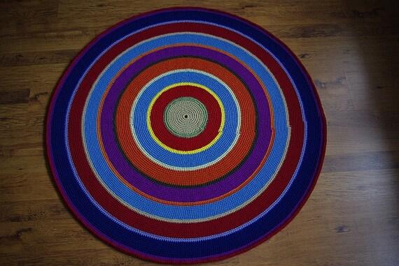 Tappeto tappeto pavimento tappeti rotondo handmade etsy