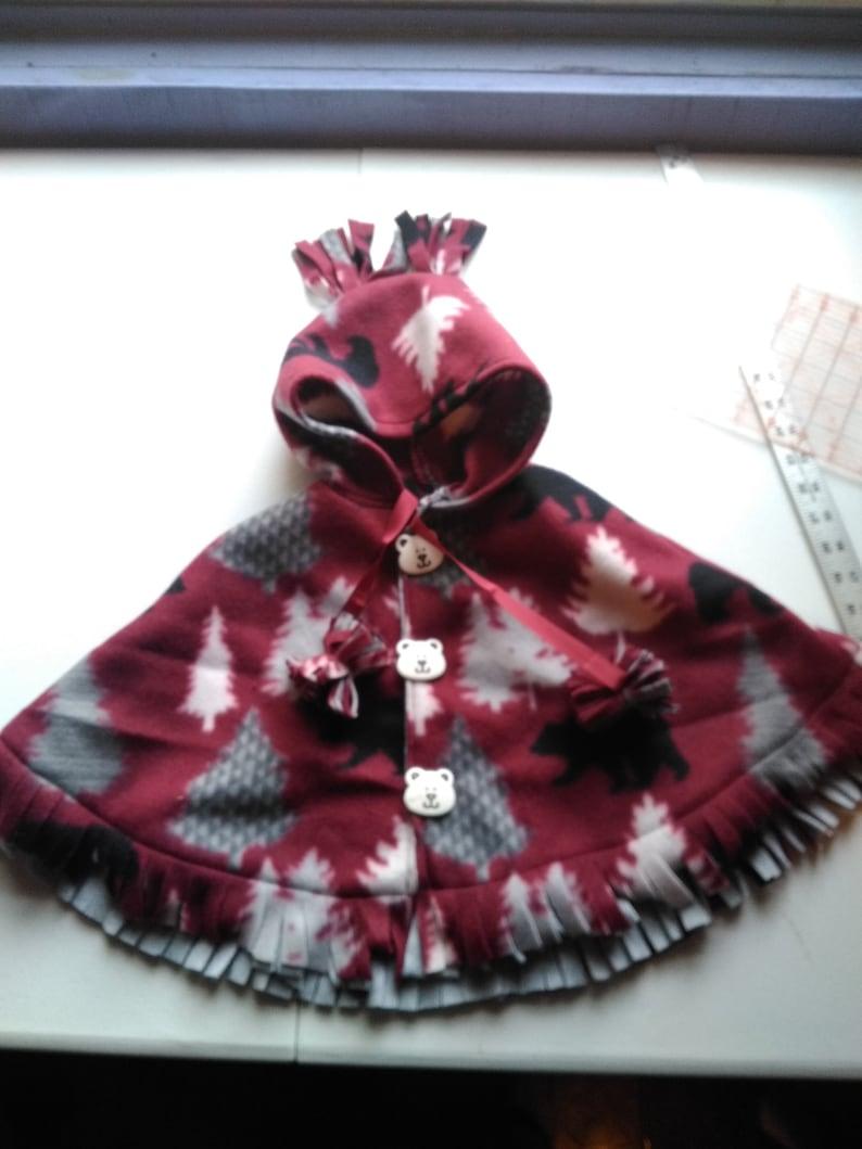 Infant Poncho Fleece Many patterns available