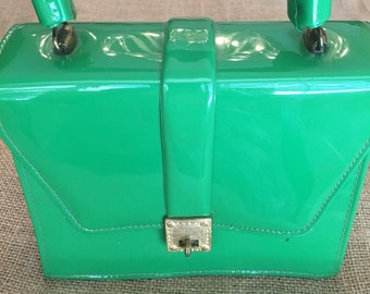 Vintage Green Patent Leather Purse